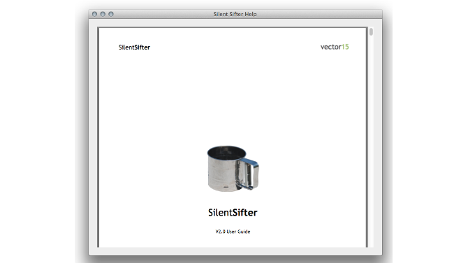 Slent Sifter User Guide